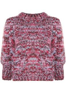 Ganni melange chunky knit sweater