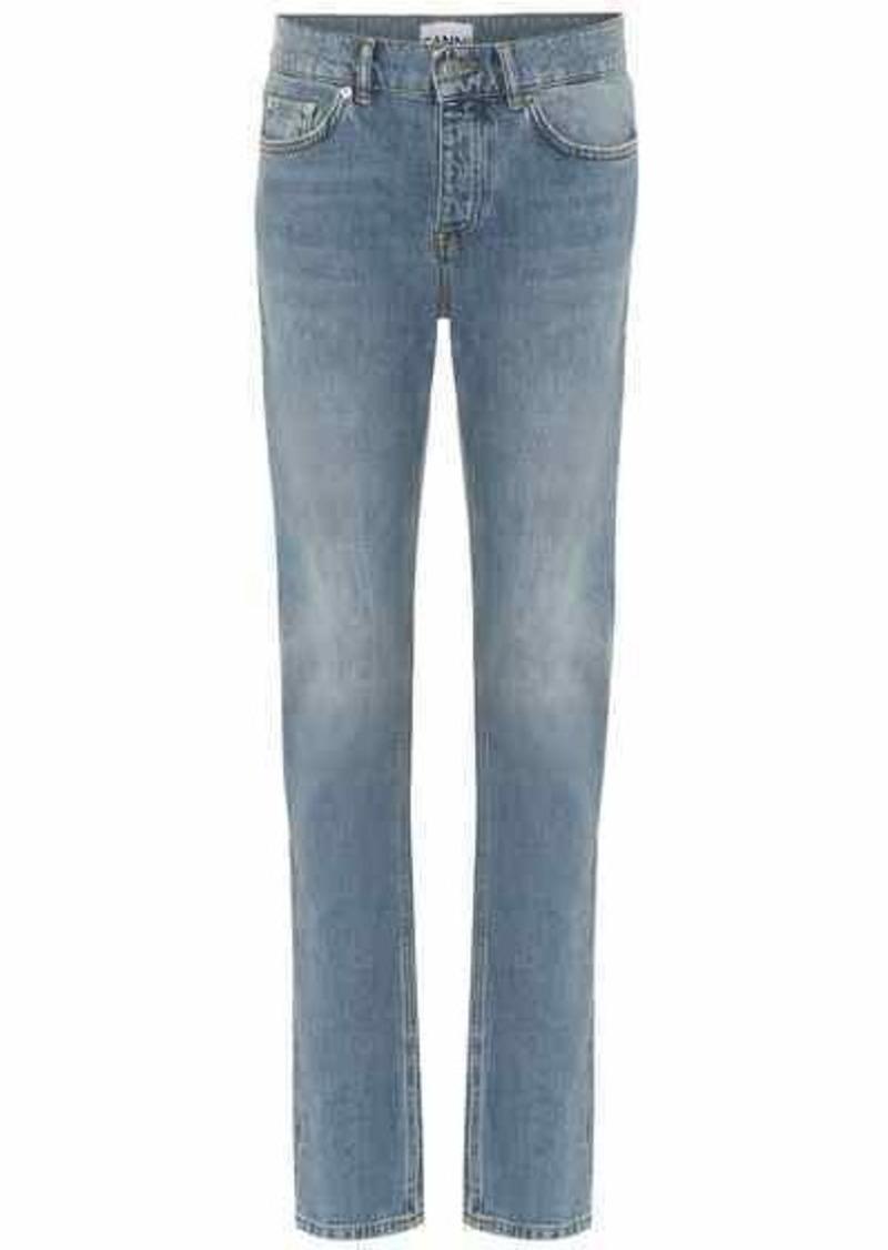 Ganni Mid-rise slim straight jeans