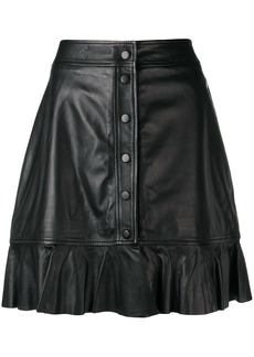 Ganni mini leather skirt