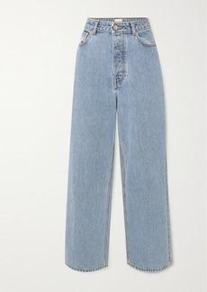 Ganni Net Sustain High-rise Wide-leg Jeans