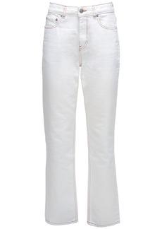 Ganni Organic Cotton Denim Straight Jeans