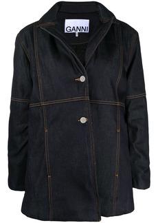 Ganni oversized denim blazer jacket
