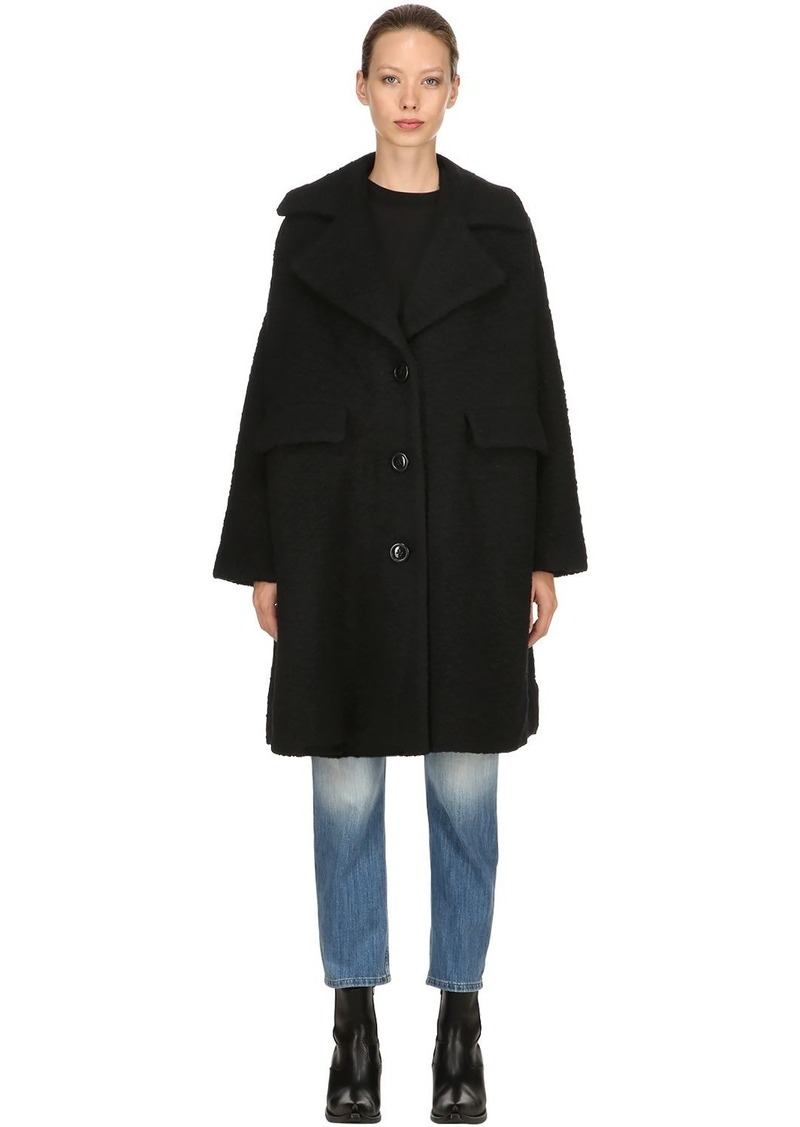 6f8777e8 Ganni Oversized Wool Blend Coat | Outerwear