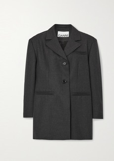 Ganni Oversized Woven Blazer