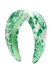 Ganni padded floral print hairband