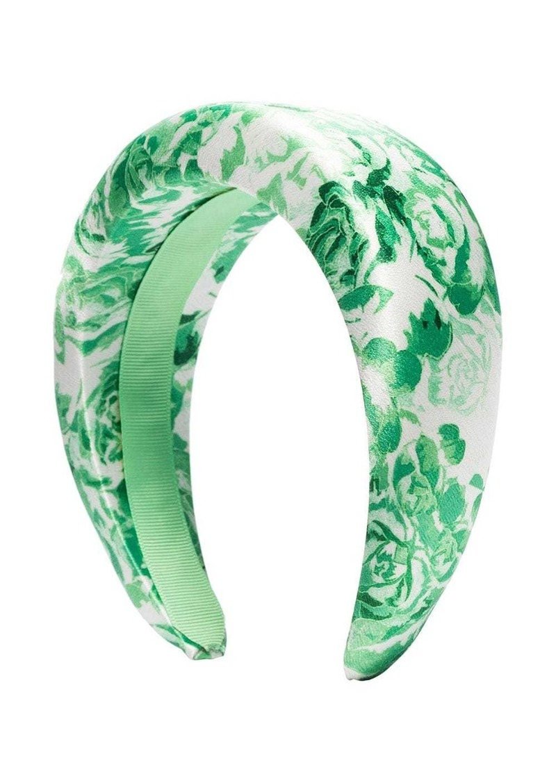padded floral print hairband
