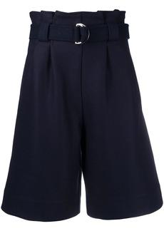 Ganni paperbag waist belted shorts