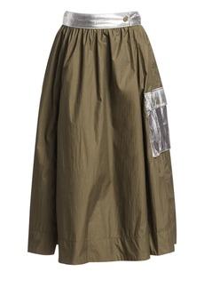 Ganni Paradise Two-Way Tech Midi Skirt
