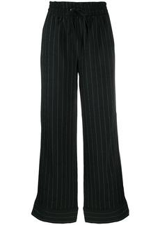 Ganni pinstriped wide-leg trousers