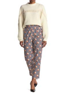 Ganni Printed Cotton Poplin Trousers