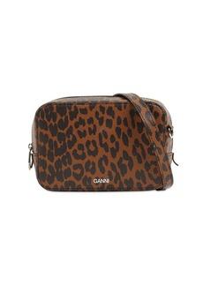 Ganni Printed Leather Camera Bag