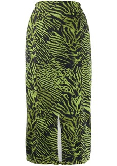 Ganni printed midi skirt
