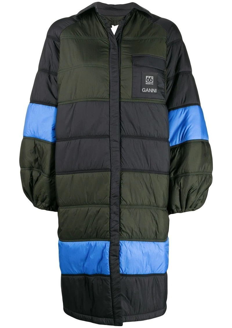 Ganni x 66º North quilted oversized jacket
