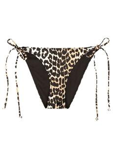 Ganni Recycled Tech Leopard Bikini Bottoms