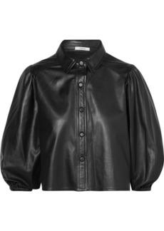 Ganni Rhinehart Leather Shirt