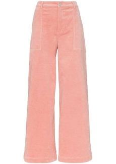 db93c28cb208e9 Ganni plaid straight leg trousers | Casual Pants