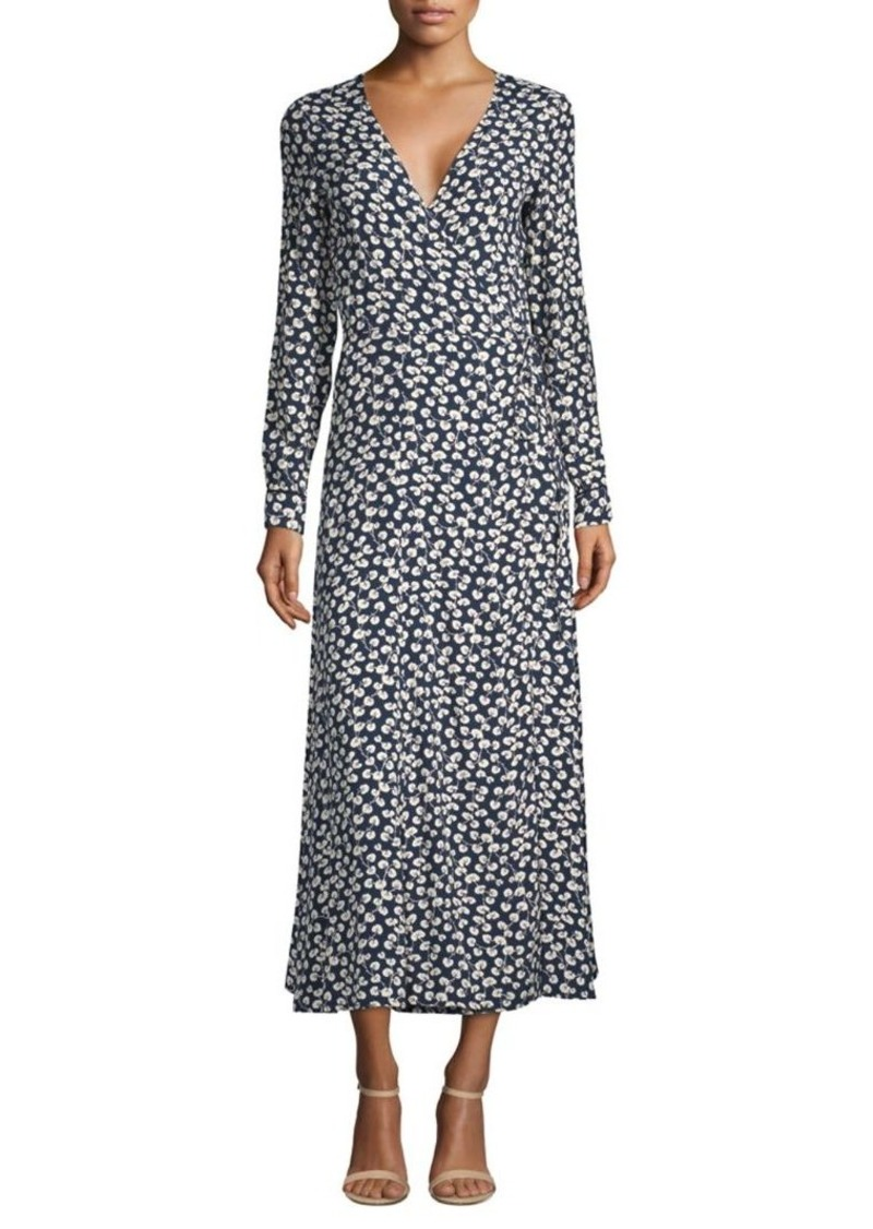 online here clearance sale timeless design Ganni Roseburg Crepe Wrap Dress | Dresses