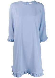 Ganni ruffle sleeve shirt dress