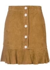 Ganni Salvia ruffle mini skirt