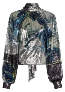 Ganni sequin embellished blouse