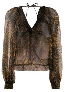 Ganni sheer blouse