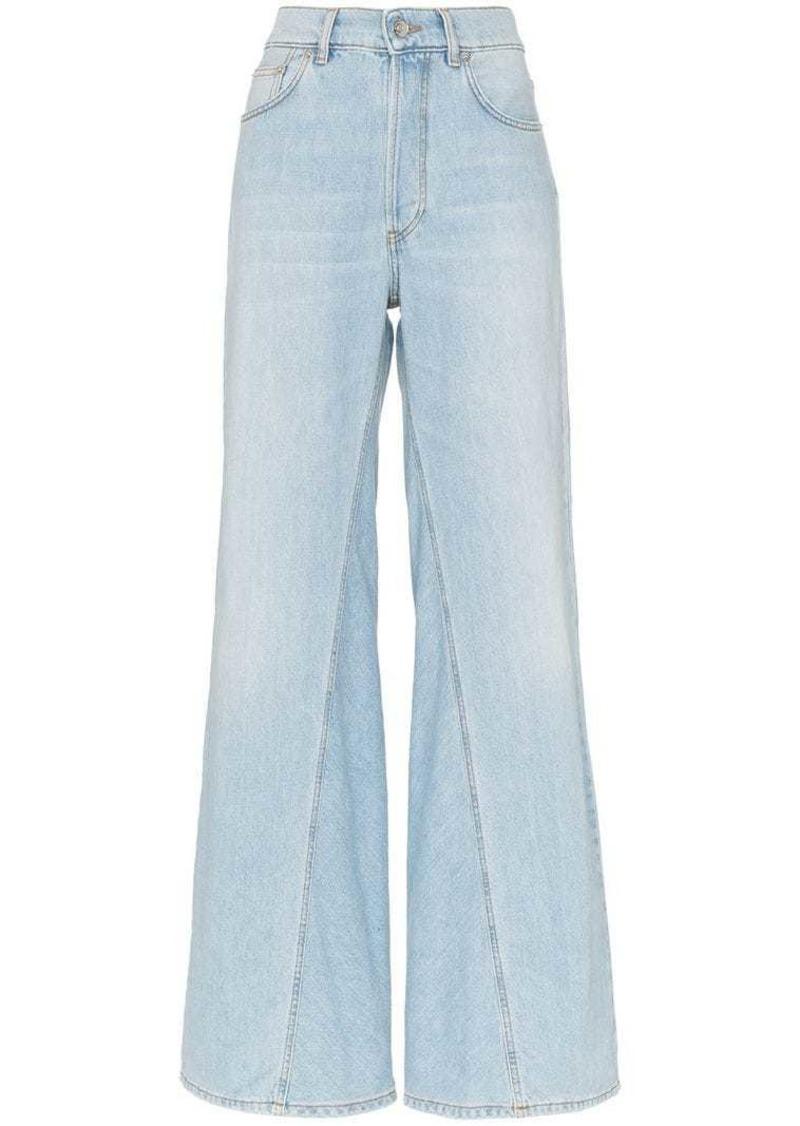 Sheldon bleached wide leg jeans