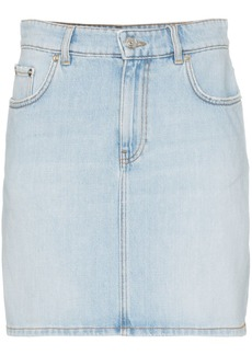 Ganni sheldon denim mini skirt