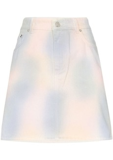 Ganni Shiloh tie-dye denim mini skirt