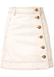 Ganni side button skirt
