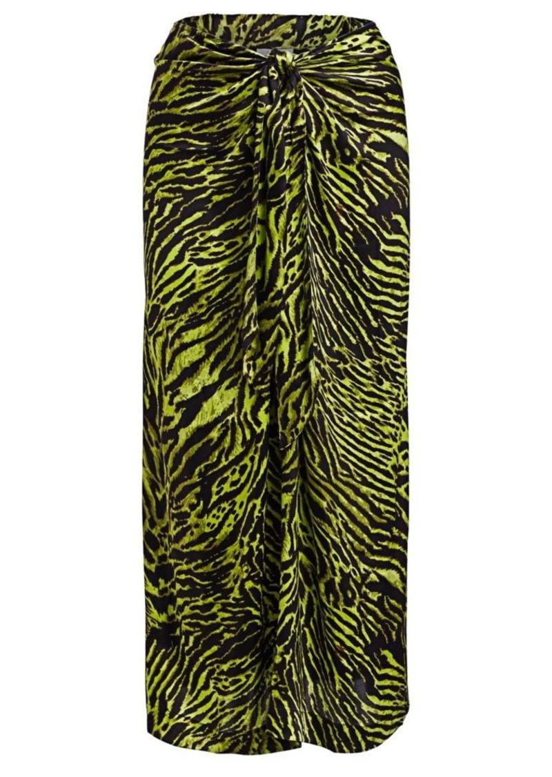 Ganni Silk Stretch Satin Skirt