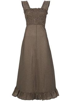 Ganni x Browns 50 sleeveless seersucker maxi dress