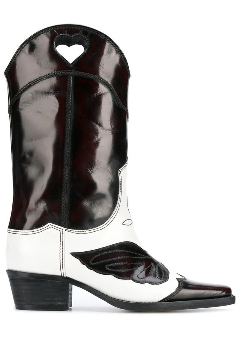 7a7aa58e0543 Ganni slip-on cowboy boots