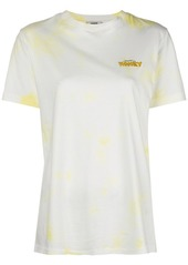 Ganni slogan tie-dye T-shirt