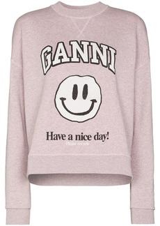 Ganni smiley print sweatshirt