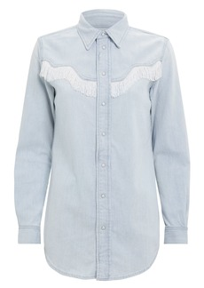Ganni Fringe Denim Shirt