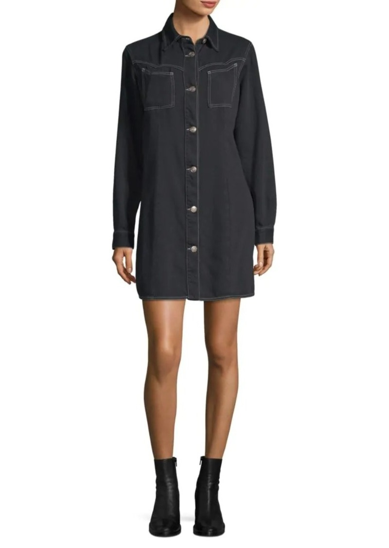 recognized brands best website factory price Ganni Soft Denim Shirtdress | Dresses