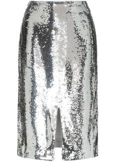 Ganni sonora sequin pencil skirt