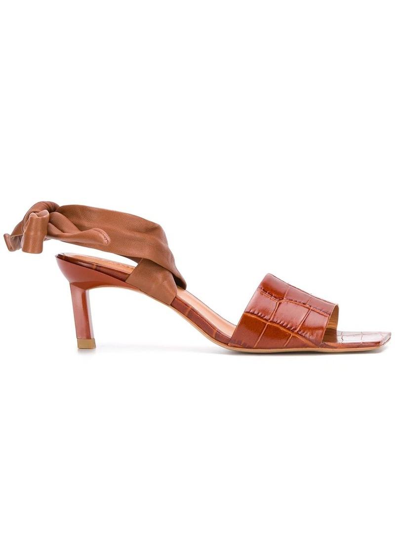 Ganni square toe sandals