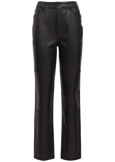 Ganni Stitched Leather Straight Pants