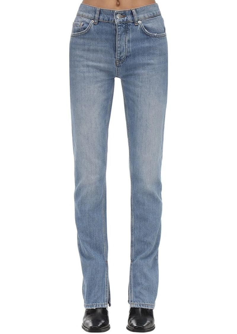 Ganni Straight Leg Cotton Denim Jeans