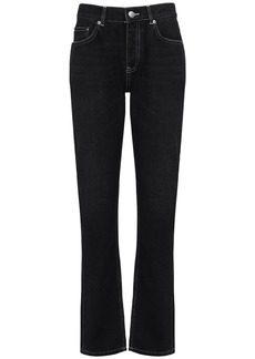 Ganni Straight Leg Cotton Denim Pants