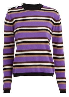Ganni Striped Cashmere Sweater