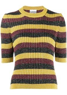 Ganni striped glitter jumper