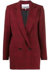 Ganni Suiting checked blazer