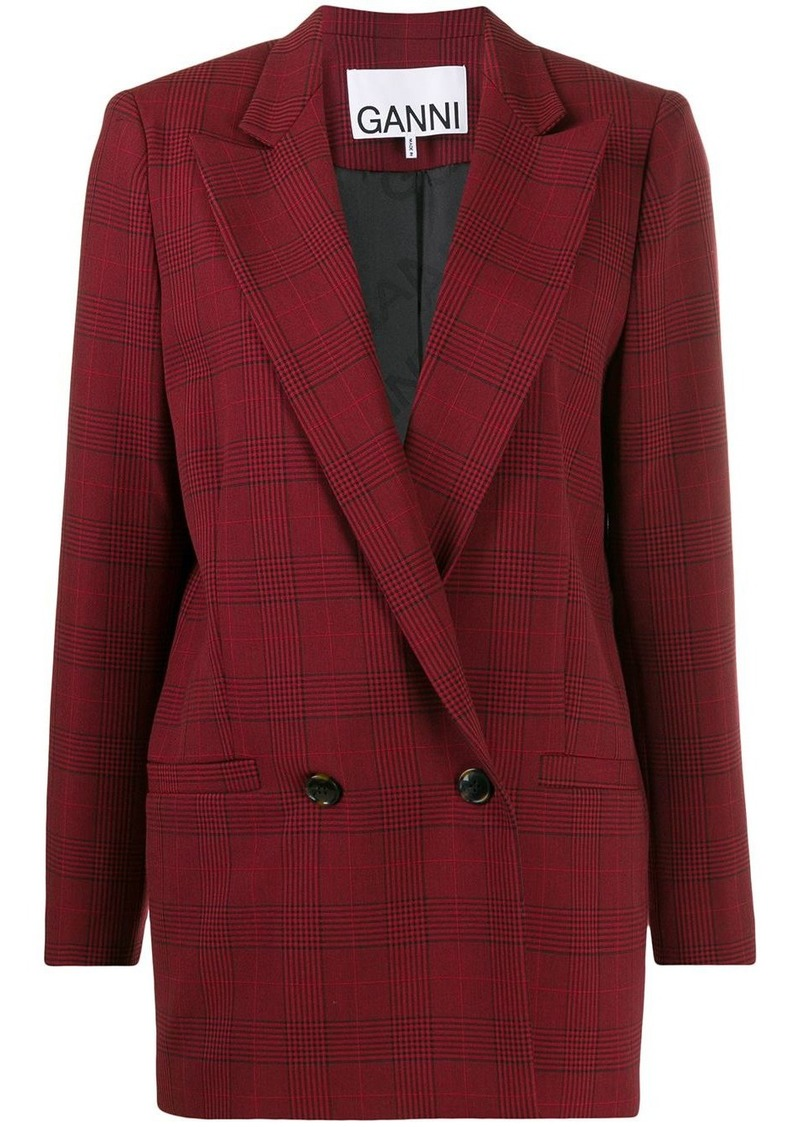 Suiting checked blazer