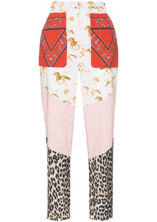 Ganni Sweeny patchwork print trousers