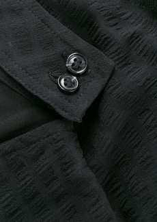 Ganni textured ruffle maxi dress