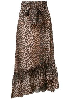 Ganni Tilden mesh skirt