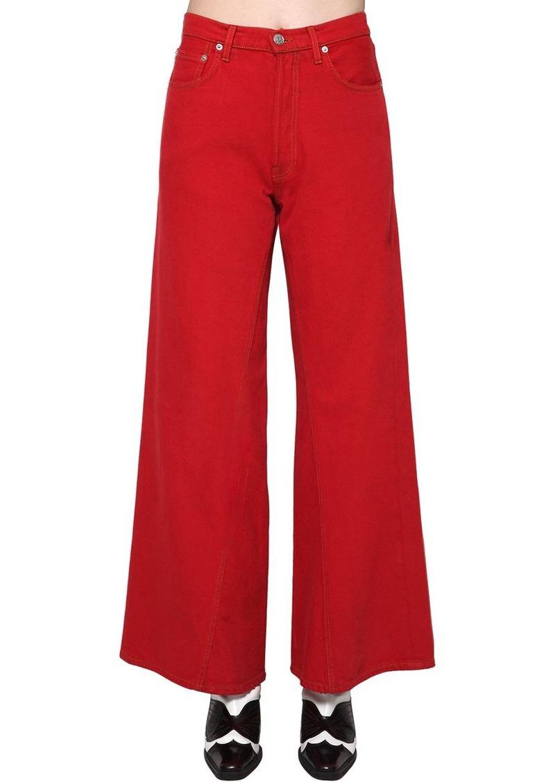 Ganni Wide Leg Cotton Denim Jeans