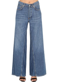 Ganni Wide Leg Cotton Denim Jeans